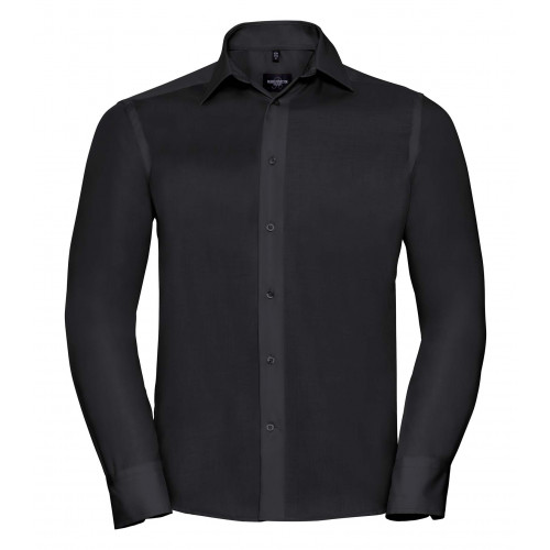 Russell Men´s Long Sleeve Tailored Ultimate Non-Iron Shirt Black