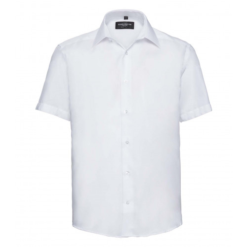 Russell Men´s Short Sleeve Tailored Ultimate Non-Iron Shir White