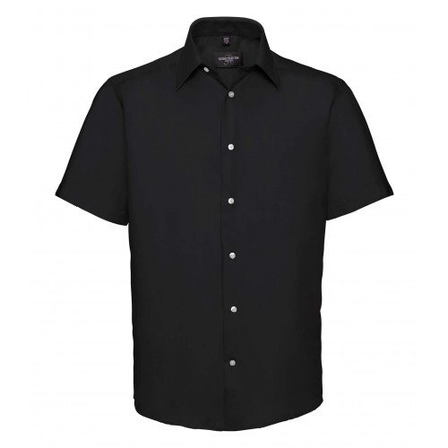 Russell Men´s Short Sleeve Tailored Ultimate Non-Iron Shir Black