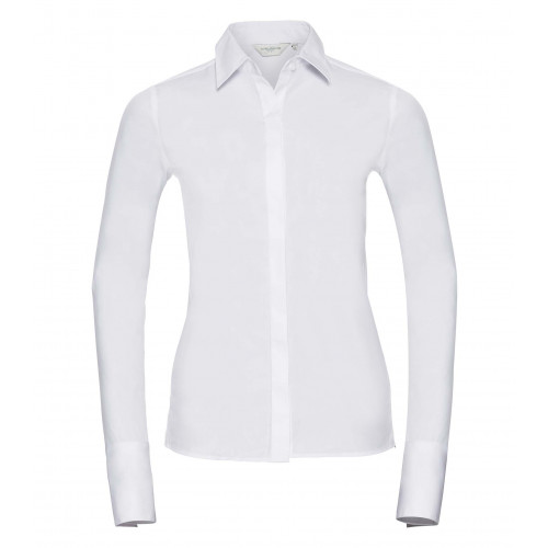 Russell Ladies´ Long Sleeve Ultimate Stretch White