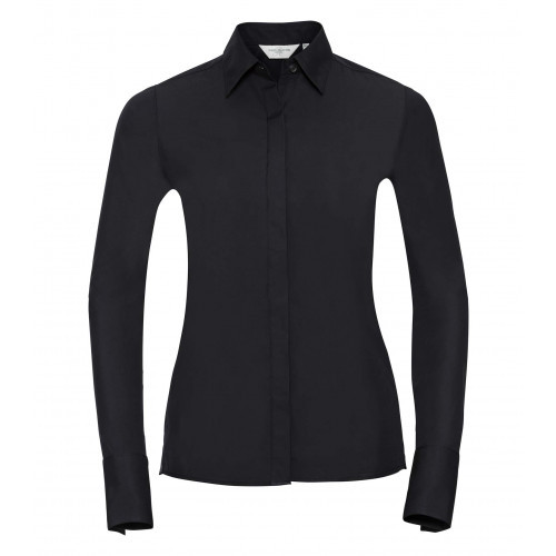 Russell Ladies´ Long Sleeve Ultimate Stretch Black
