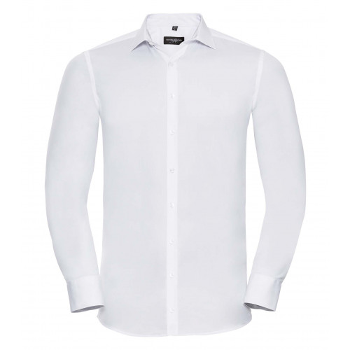 Russell Men´s Long Sleeve Ultimate Stretch White