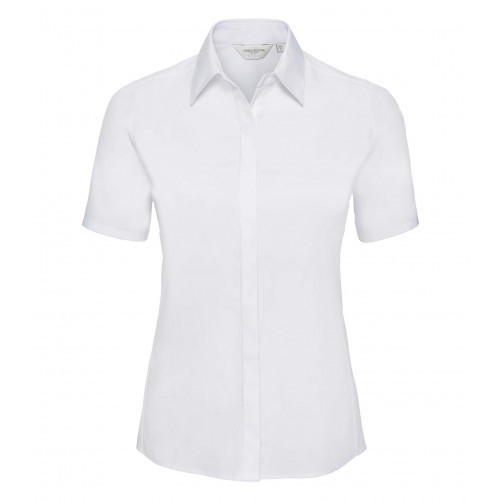 Russell Ladies´ Short Sleeve Ultimate Stretch White