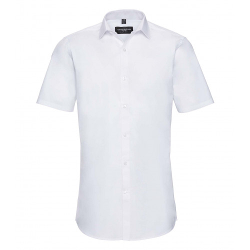 Russell Men´s Short Sleeve Ultimate Stretch White