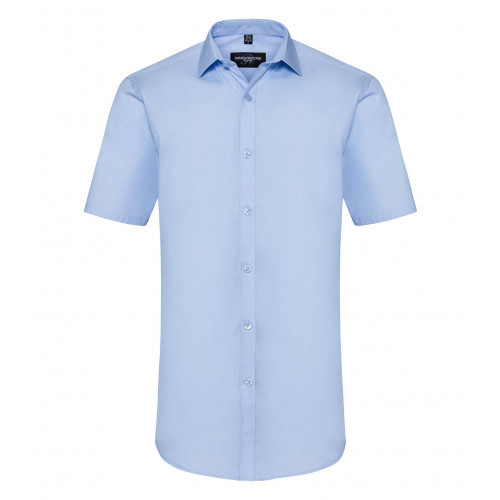 Russell Men´s Short Sleeve Ultimate Stretch Bright Sky