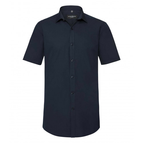 Russell Men´s Short Sleeve Ultimate Stretch Bright Navy
