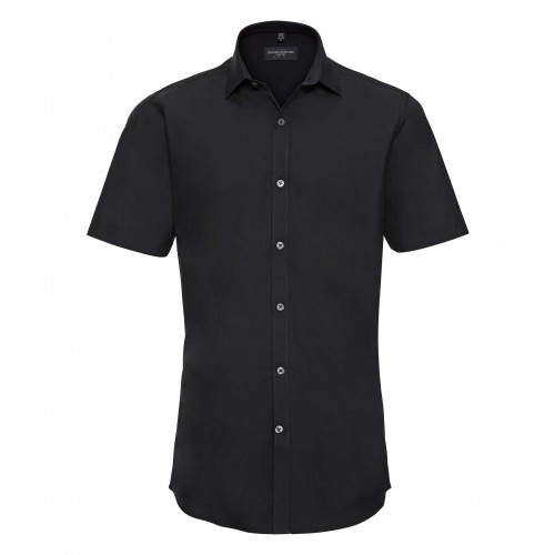 Russell Men´s Short Sleeve Ultimate Stretch Black