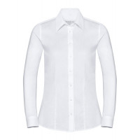 Russell Ladies LS Tailored Coolmax® Shirt White