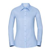 Russell Ladies LS Tailored Coolmax® Shirt Light Blue