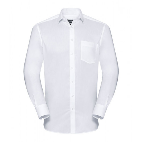 Russell Men´s LS Tailored Coolmax® Shirt White