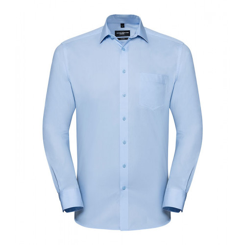 Russell Men´s LS Tailored Coolmax® Shirt Light Blue