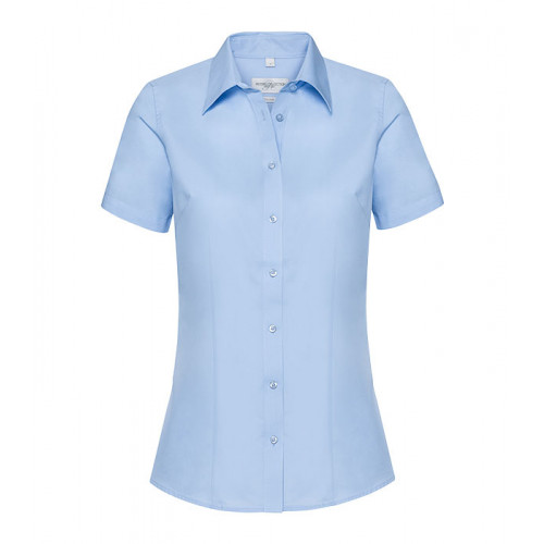 Russell Ladies SS Tailored Coolmax® Shirt Light Blue