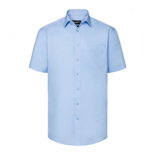 Russell Men´s SS Tailored Coolmax® Shirt Light Blue