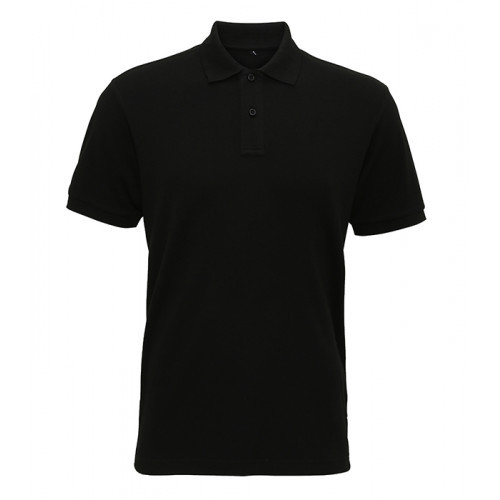 Asquith Men´s Super Smooth Knit Polo Black