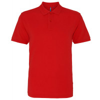 Asquith and Fox Men's Classic Polo Washed Red