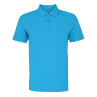 Asquith and Fox Men's Classic Polo Turquoise
