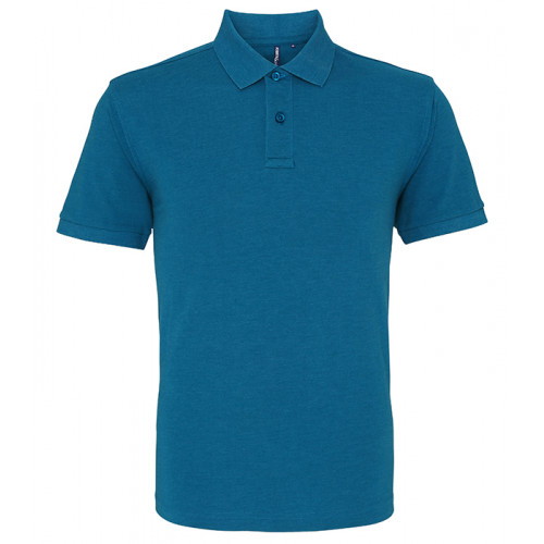 Asquith and Fox Men's Classic Polo Teal Heather