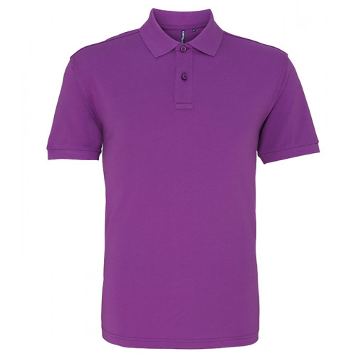 Asquith and Fox Men's Classic Polo Orchid