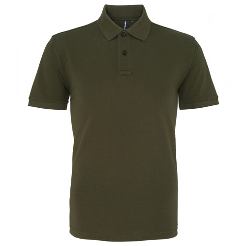Asquith and Fox Men's Classic Polo Olive