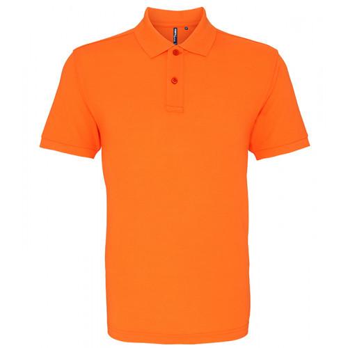 Asquith and Fox Men's Classic Polo Neon Orange
