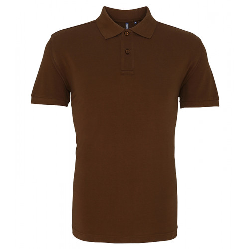 Asquith and Fox Men's Classic Polo Milk Chocolate