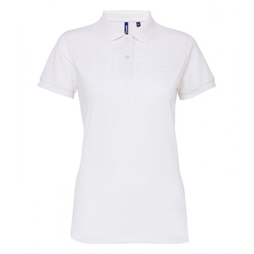 Asquith Women's classic fit performance blend polo White
