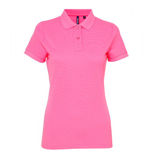 Asquith Women's classic fit performance blend polo Neon Pink