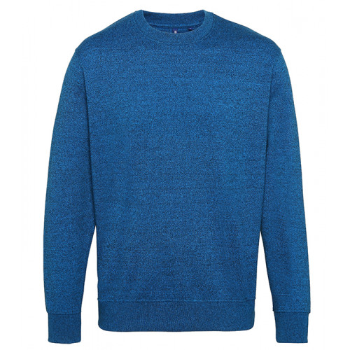 Asquith Mens Twisted Yarn Sweatshirt Sapphire/Black