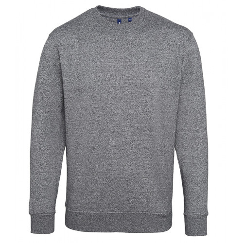 Asquith Mens Twisted Yarn Sweatshirt Charcoal/Black