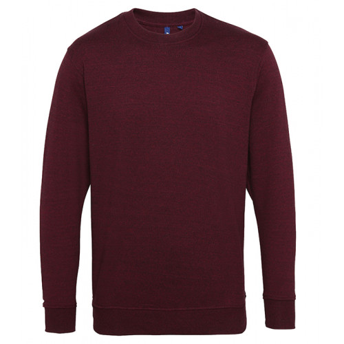 Asquith Mens Twisted Yarn Sweatshirt Burgundy/Black