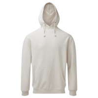 Asquith and Fox Mens Coastal Vintage Wash Loop Back Hoodie Vintage White