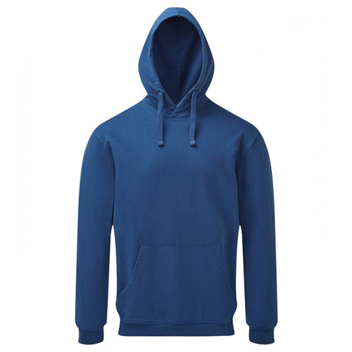 Asquith and Fox Mens Coastal Vintage Wash Loop Back Hoodie Navy