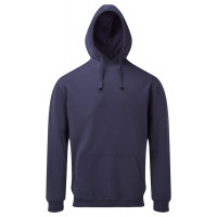 Asquith and Fox Mens Coastal Vintage Wash Loop Back Hoodie Indigo
