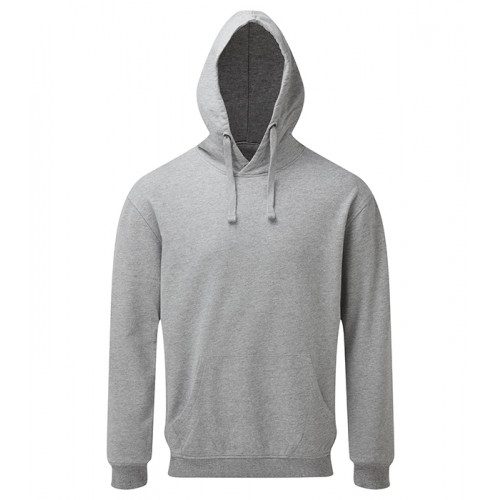 Asquith and Fox Mens Coastal Vintage Wash Loop Back Hoodie Heather Grey