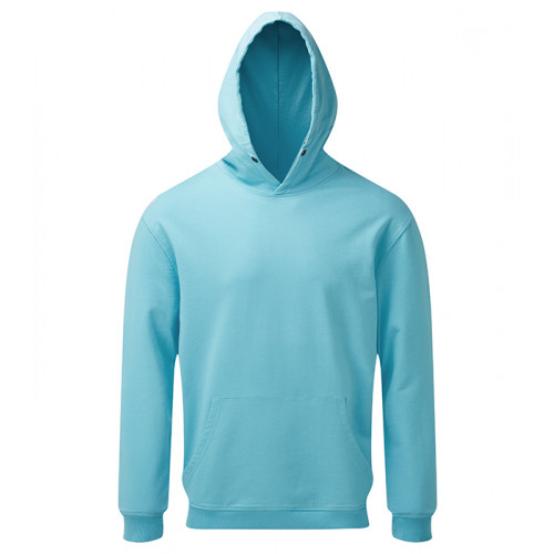 Asquith and Fox Mens Coastal Vintage Wash Loop Back Hoodie Bright Ocean