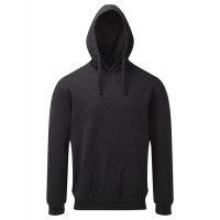 Asquith and Fox Mens Coastal Vintage Wash Loop Back Hoodie Black