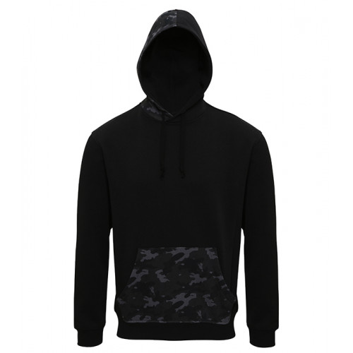 Asquith Men´s Camo Trimmed Hoodie Black/Grey Camo