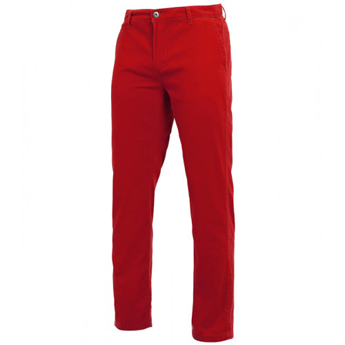Asquith Mens Classic Fit Chino Regular Cherry Red