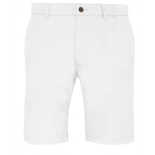 Asquith Mens Classic Fit Shorts White