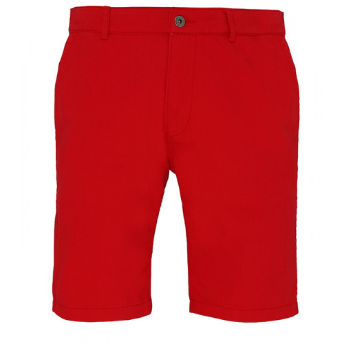 Asquith Mens Classic Fit Shorts Cherry Red