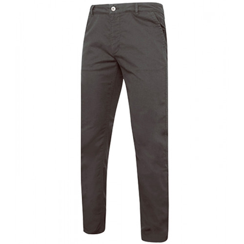 Asquith Men's slim fit cotton chino Slate