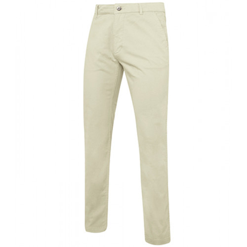 Asquith Men's slim fit cotton chino Natural