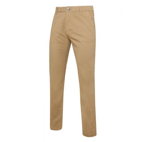 Asquith Men's slim fit cotton chino Khaki