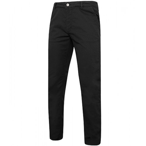 Asquith Men's slim fit cotton chino Black
