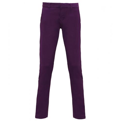 Asquith & Fox Women's chino Purple