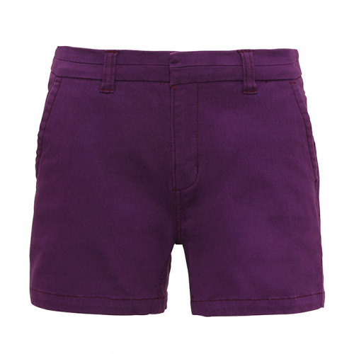 Asquith Women's chino shorts Purple