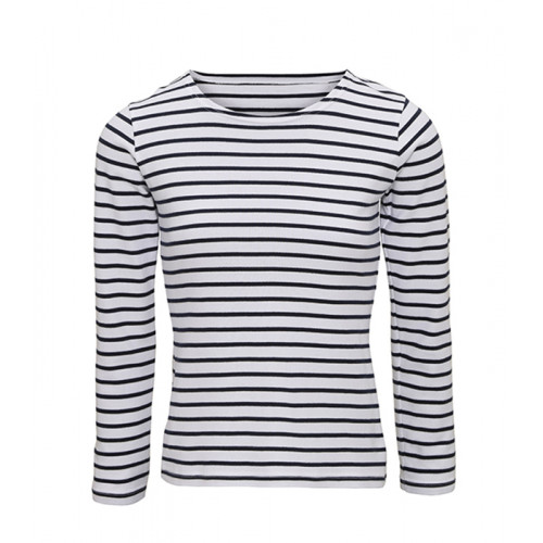 Asquith & Fox Women's Mariniere coastal L/S tee White/Navy