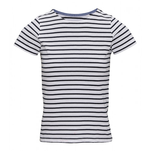 Asquith Women´s Mariniere Coastal S/S Tee White/Navy