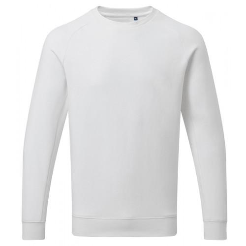 Asquith Mens Organic Crew neck sweat White
