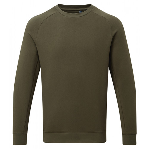 Asquith Mens Organic Crew neck sweat Olive